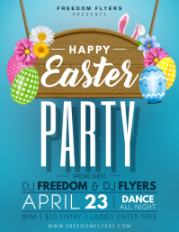 Easter Party Flyer Template Design