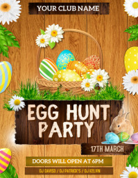 Easter party flyers