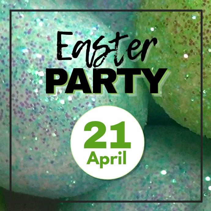Easter Party Glitter Eggs Club Bar Disco Sparkle Retro urban