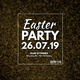 Easter Party golden Egg Glitter Advert Video Promo Club Bar