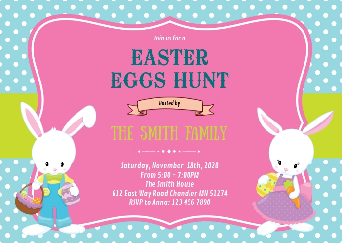 Easter Party Invitation Template Postermywall
