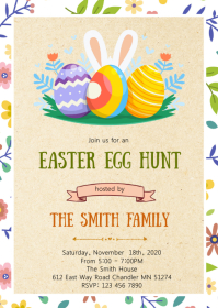 Easter Party Invitation A6 template