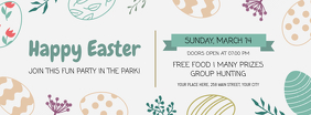 Easter Party Invite Facebook Cover Photo template