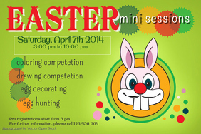 Easter Party Poster Template