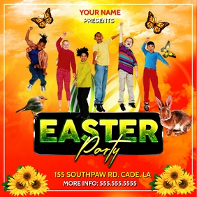 EASTER PARTY SUNSHINE FLOWER TEMPLATE