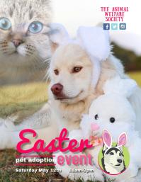 easter pet adoption event flyer