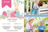 Easter Photography Mini Session Étiquette template