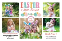 Easter Photography Mini Session Etiket template