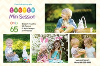 Easter Photography Mini Session Label template