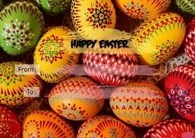 Easter postcard - Vennie Production Открытка template
