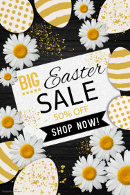 Easter Poster, Easter Egg Hunt Poster, Easter Sale Poster
