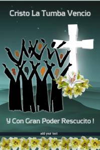 Easter Poster/Semana Santa/Church Banner/Iglesia