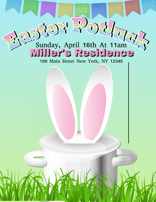 Easter Potluck Template Postermywall
