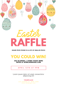 Easter Raffle Flyer Template