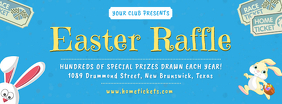 Easter Raffle Invitation Banner Facebook Cover Photo template