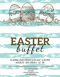 Easter Restaurant Buffet Flyer Template
