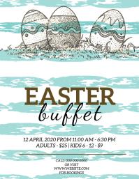 Easter Restaurant Buffet Flyer Template