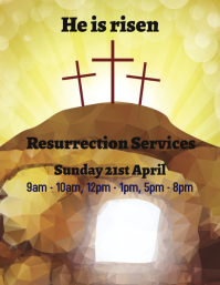 Easter Resurrection Service Flyer template