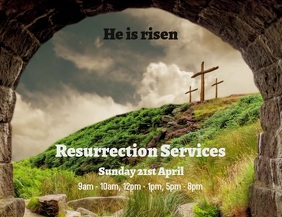 Easter Resurrection Service Flyer video