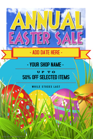 Easter Retail Sale Poster Flyer