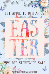 Easter Retail Sale Poster Template