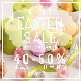Easter Retail Spring Sale Business Holiday Ad Bunny Home