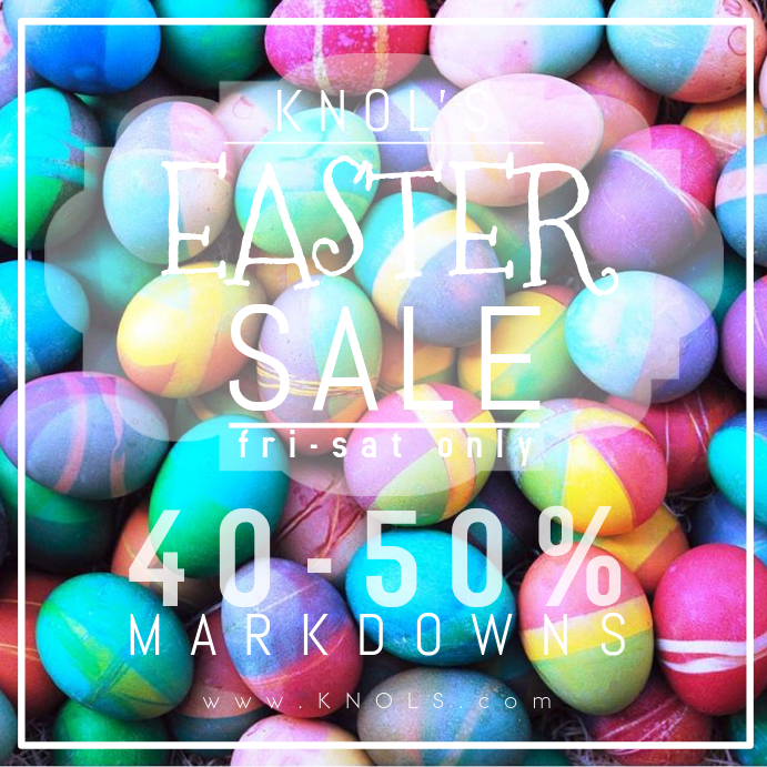 Easter Retail Spring Sale Business Holiday Advertisement Egg