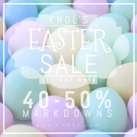 Easter Retail Spring Sale Business Holiday Advertisement