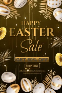 easter retail video Poster template