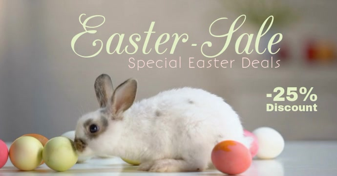 Easter SALE Advert bunny Discount Offer PRomo Header banner Publicité Facebook template