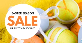 Easter Sale Advert retail Shopping Flyer %