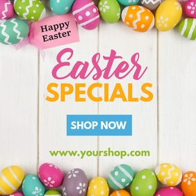 Easter Sale Advert retail Shopping Flyer % Instagram Post template