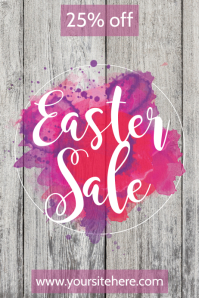 easter sale banner template