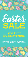 Easter Sale banner 易拉宝 3' × 6' template