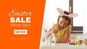 Easter sale banner Header online shop Advert