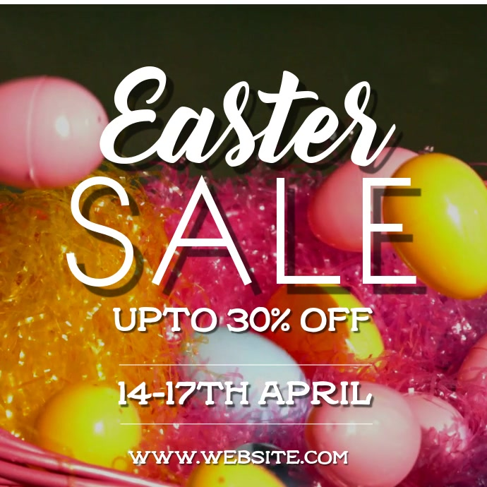 Easter Sale Cuadrado (1:1) template
