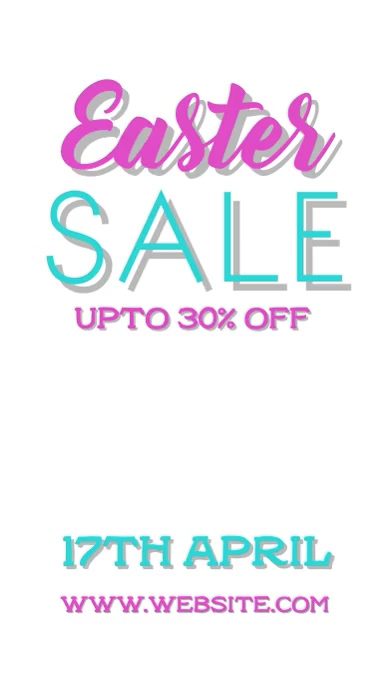 Easter sale Instagram na Kuwento template