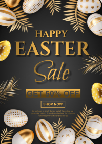 easter sale A4 template