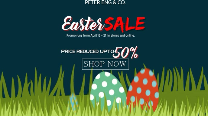 EASTER SALE 数字显示屏 (16:9) template