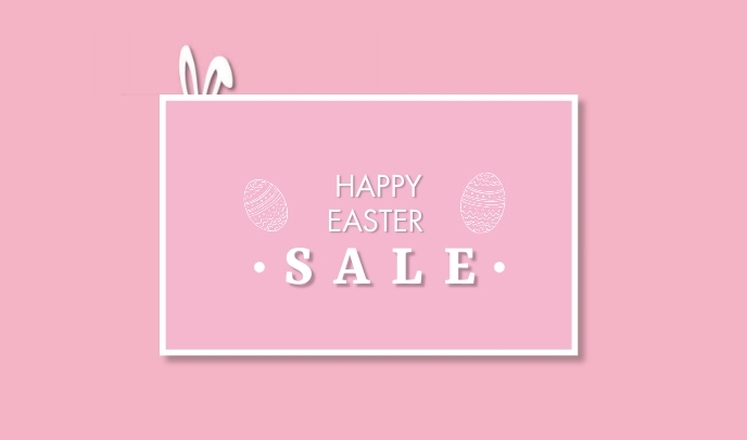 Easter Sale Tag template
