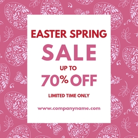 easter sale design template instagram post