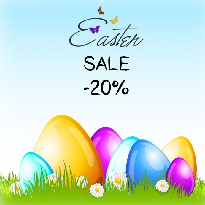 easter sale egg 20% instagram facebook color