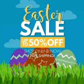 Easter Sale Egg Toon Instagram Post Ad
