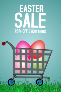 easter sale flyer template
