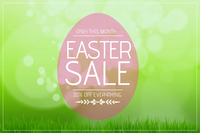 easter sale flyer template landscape