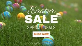 Easter Sale Lawn Eggs Banner Price off Cover