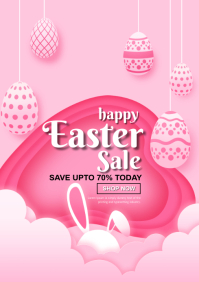 easter sale poster A4 template