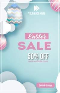 Easter Sale Template Media Página Ancho