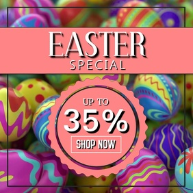 Easter Sale video advert promo eggs store retail