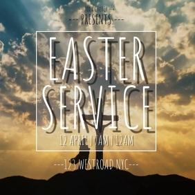 EASTER SERMON SERVICE TEMPLATE Cuadrado (1:1)